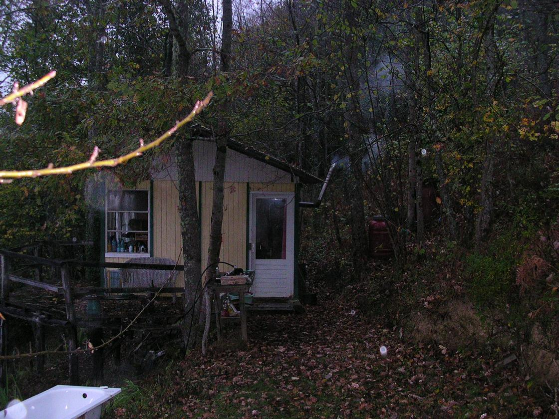 Pyreneen 2008 le sarradel - Houten huis ...